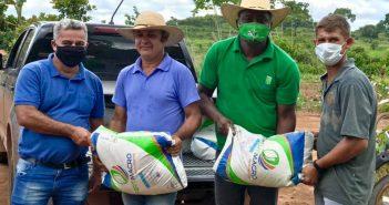 Milhares de mudas e quase uma tonelada de fertilizantes, corretivo de solo são entregues pela Prefeitura e IDEFLOR em Brasil Novo.