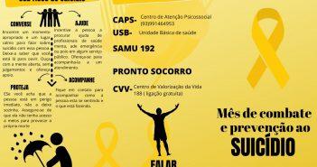 Setembro Amarelo, Mês de Combate e Prevenção ao Suicídio